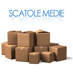 vendita scatole cartone stock